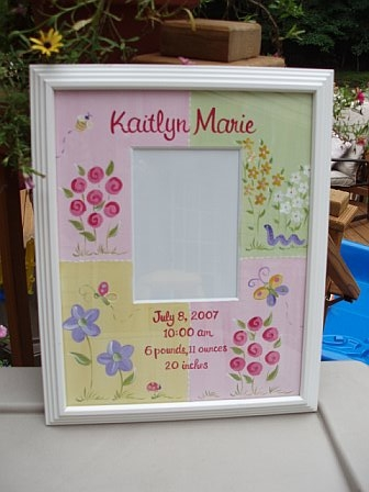 Birth Announcement Picture Frame Ella Design