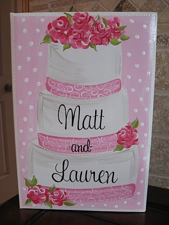 Bridal Photo Album Pink Wedding Cake