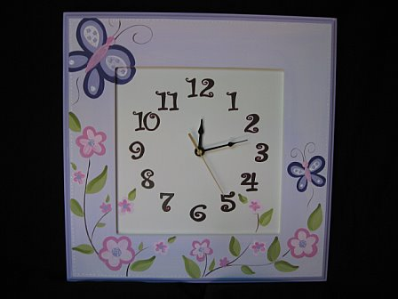 Wooden Wall Clock Sugar Plum