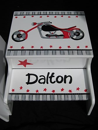 Storage Step Stool Motorcylce Dude