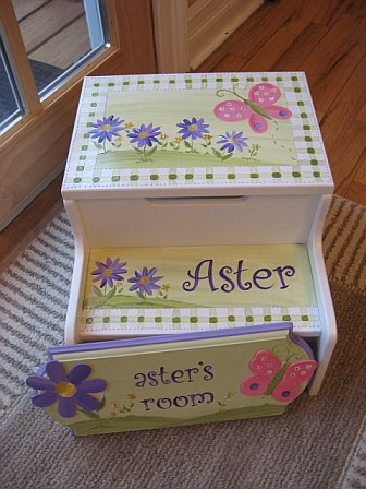 Storage Step Stool Aster Design