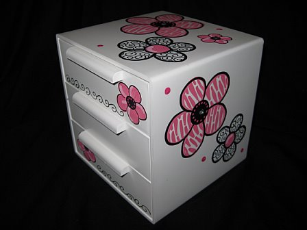 Jewelry Box Pink Zebra Bling