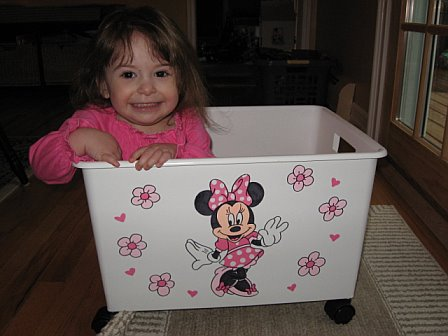 Rolling Toy Cart - Custom Order Design Minnie