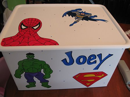 Rolling Toy Cart - Custom Order Design Super Heros