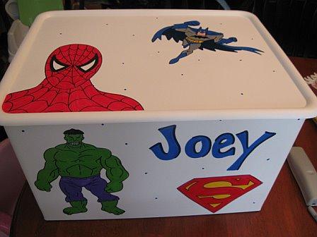 Rolling Toy Cart - Custom Order Design Super Heros