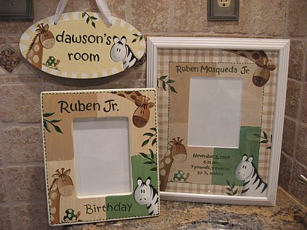 Birth Announcement Picture Frame Zanzibar Collection