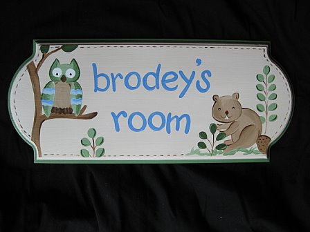 Door Sign Enchanted Forest