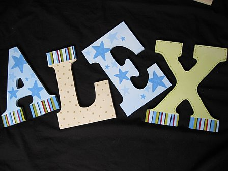 Letters Dots, Stars and Stipes Design