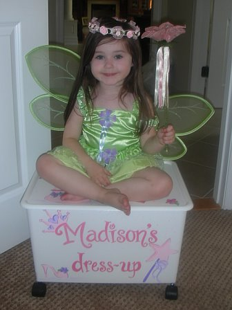 Happy Princess loving her dress up!
