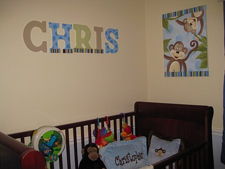 Wall Letters Chris Design