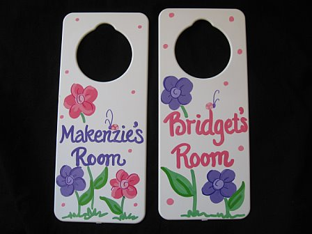 Door Sign Favor Ladybug Flower