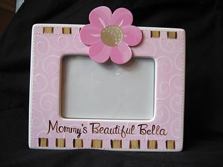 Personalized Picture Frame Pink Truffle