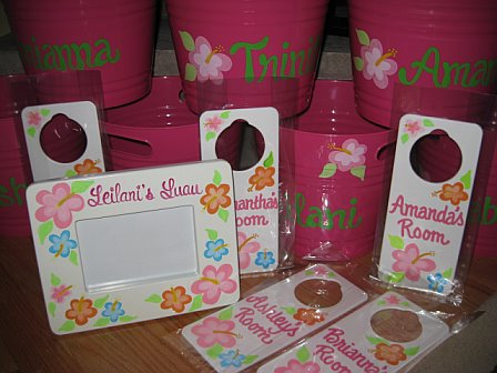 Party Favor Custom Set Luau