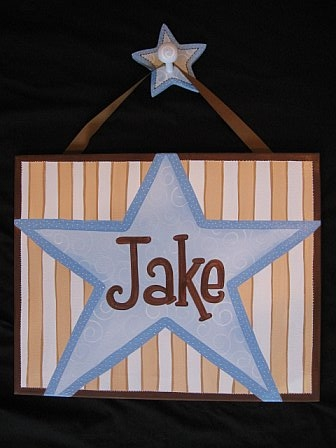 Custom Canvas Blue Star Mocha