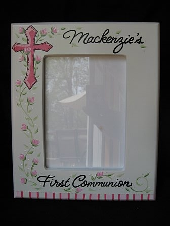 Picture Frame Communion Girl