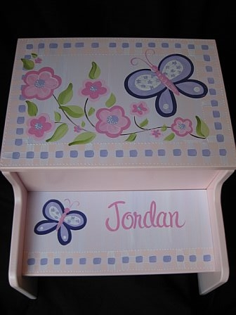 Storage Step Stool Sugar Plum