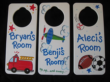 Door Sign Favor Airplane