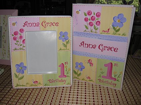 First Birthday Picture Frame and Matching Photo Album