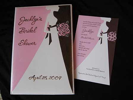 Bridal Photo Album Pink and Brown Bride