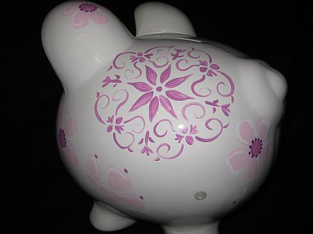 Piggy Bank Plumeria Couture