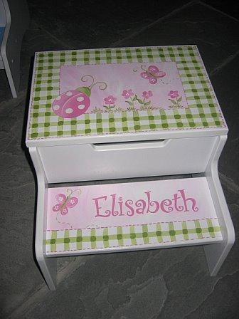 Storage Step Stool Elisabeth Ladybug