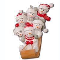 Ornament Sled Family 6