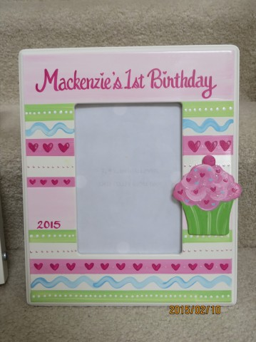 picture frame 5x7 Mackenzie cupcake