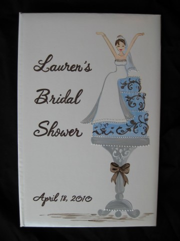 Photo Album Bride on Cake