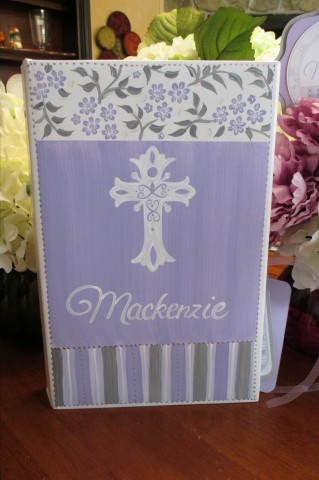 Mackenzie Cross Communion Baptism Photo Album
