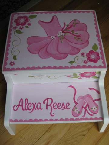 Storage Step Stool Alexa Ballet