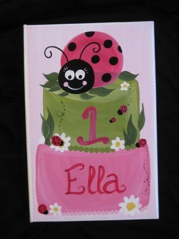 Photo Album Ladybug Cake