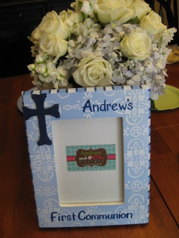 Picture Frame 5x7 Blue Andrew Cross