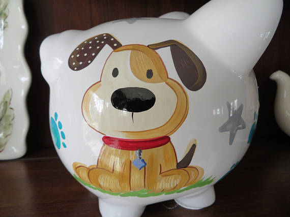 Piggy Bank Puppy