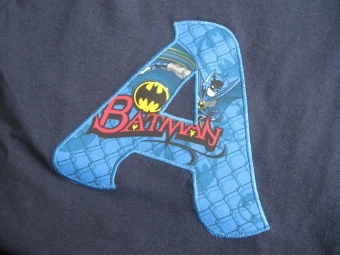 Initial Shirt Batman