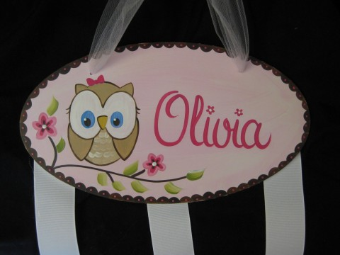 Bow Holder Happy Owl