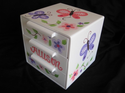 Jewelry Box Pink and Purple Butterfly