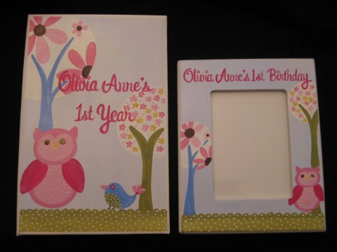 Photo Album and 5x7 Picture Frame Set Brooke