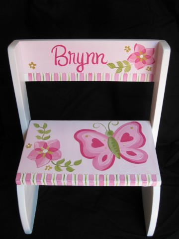 Chair Flip Step Stool Brynn Butterfly