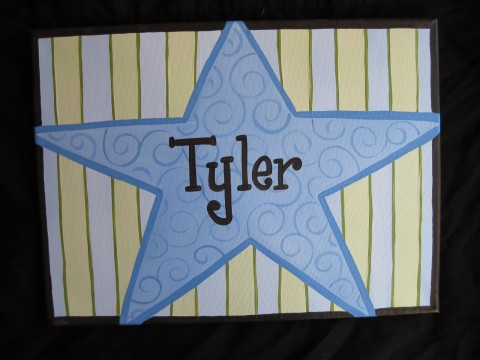 Canvas Wall Art Star Tyler