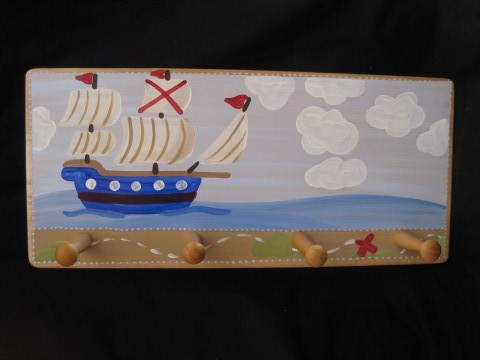 Clothes rack pirate ship