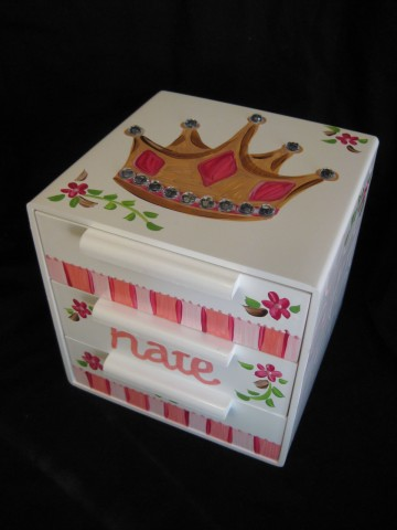 Jewelry Box Pink Crown Bling