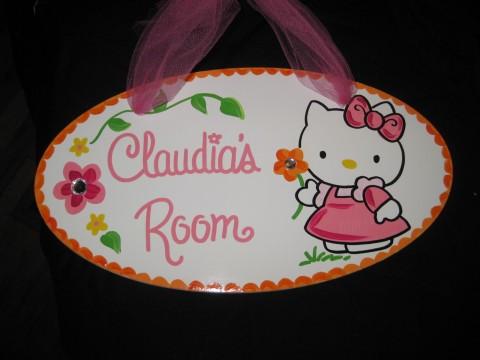 Door Sign Hello Kitty