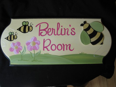 Door Sign Honey Bee