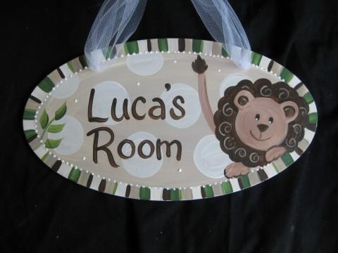 Door Sign Cocoa Lion