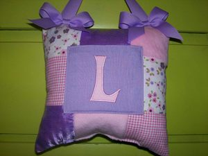 Initial Tooth Pillow Lavendar Pastel