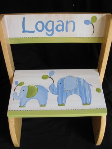 Chair Flip Step Stool Eli the Elephant