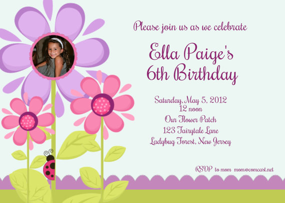 Invitation Print Yourself Ella Paige Flower