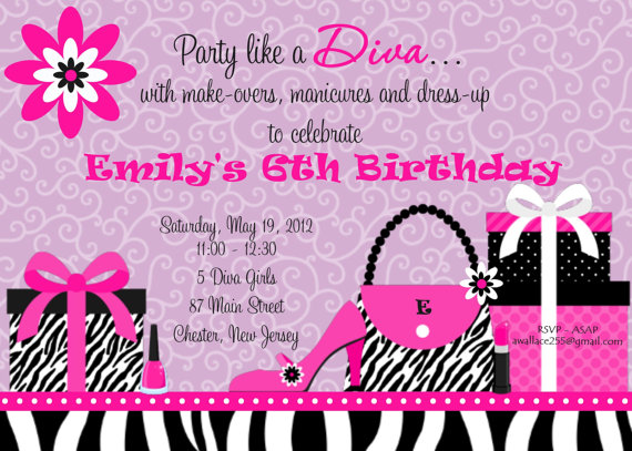 Invitation Print Yourself Emilys Diva