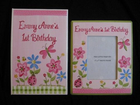Photo Album Pink and 5x7 Picture Frame Emmy's Garden