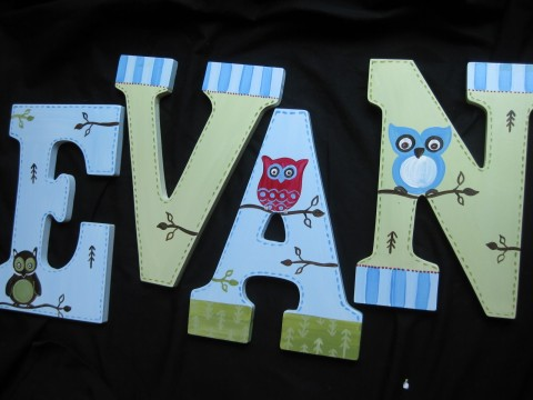 Wall letters - Evans Owl
